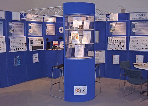 Cliff exhibition stand