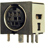 miniature DIN socket